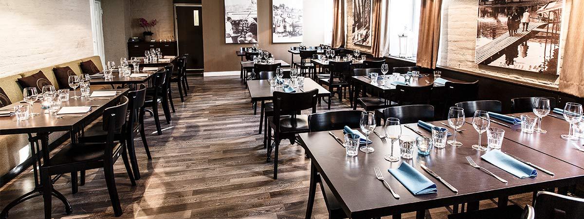 Varaa tilat - Wanha Makasiini Bistro - monipuoliset tilat - Kolme Kiveä Ravintolat